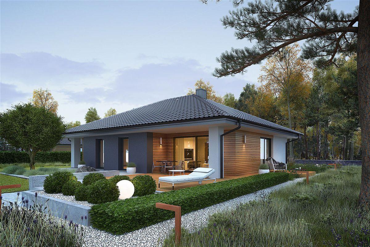 Projekt domu - płytki drewnopodobne
