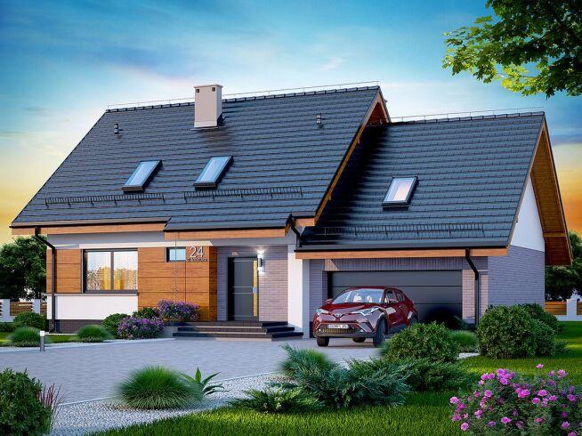 Projekt domu z dachem dwuspadowym