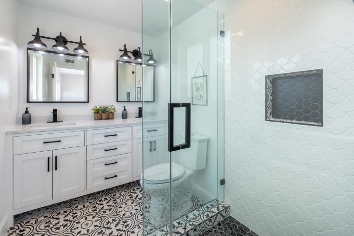 Lampa nad lustro do łazienki