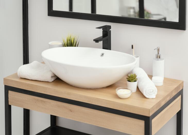Czarna armatura łazienkowa umywalka