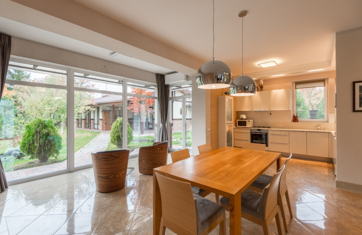 Okna panoramiczne w kuchni