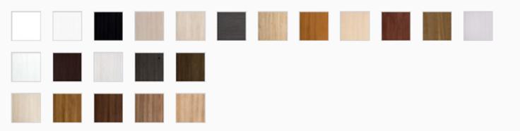 Dostępne kolory oklein