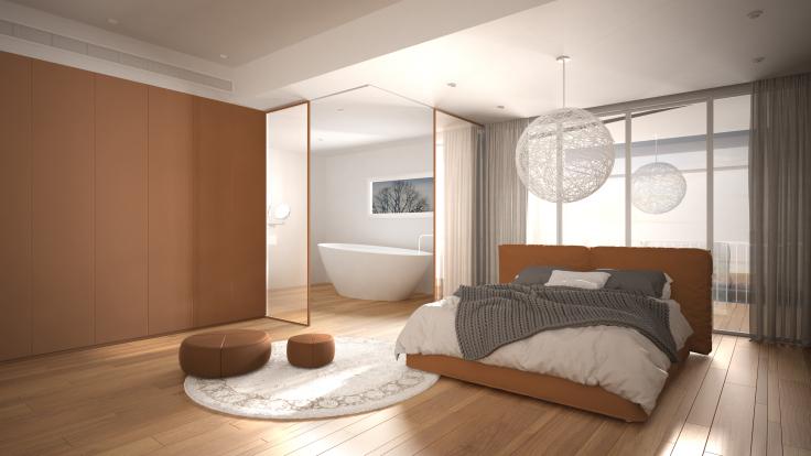 Jak połączyć sypialnię z łazienką