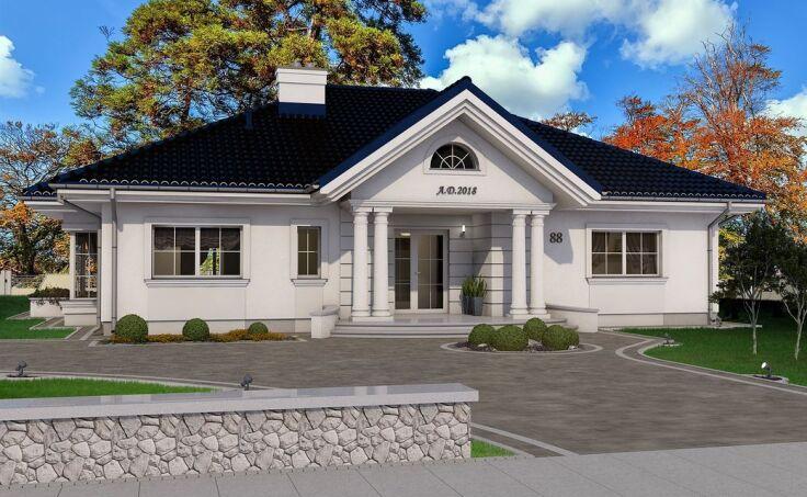 Projekty domów w stylu dworku polskiego