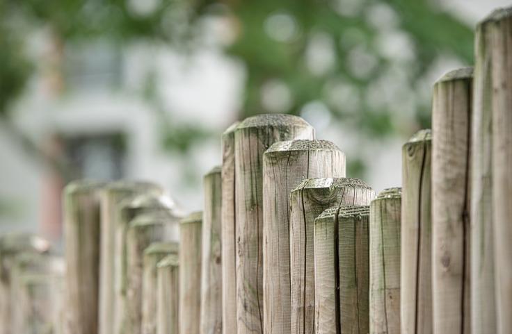 Płot drewniany do domu