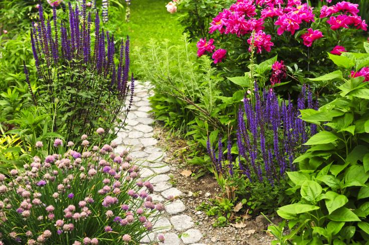 Ścieżki w ogrodzie z kamienia