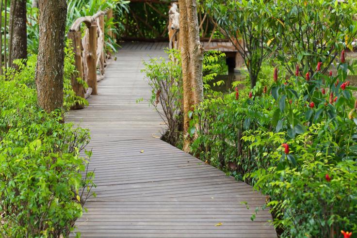 Ścieżki w ogrodzie drewniane