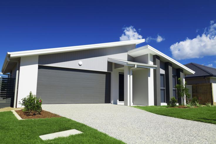 Nowoczesny dom z dachem jednospadowym
