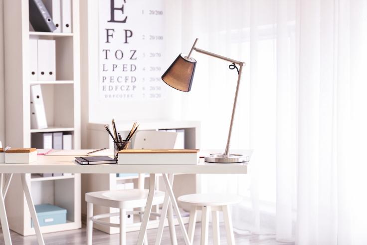 Domowe biuro - oświetlenie