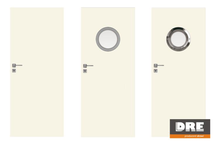 Drzwi łazienkowe UNI - DRE Drzwi łazienkowe, malowane od producenta drzwi DRE – Model: UNI