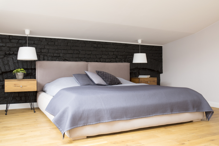 Romantyczna sypialnia na poddaszu