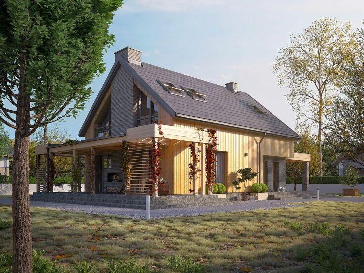 Projekt domu Weranda 3